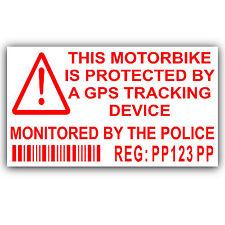 Motorbike Security Stickers-Alarm,GPS,Tracker Device -Motorcycle Bike Warning