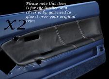 Punto Blanco 2x Frontal Puerta cartas cubiertas de cuero se adapta a Toyota Celica st162 85-89