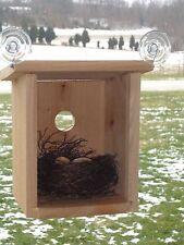 NEW! Window Mount Nest View Nesting Box Suction Cup Window Birdhouse  USA MADE