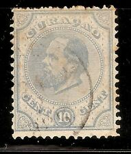 CURAÇAO-WILLIAM III -1873/89- 10 CENTS-BLUE-Y&T nr.4