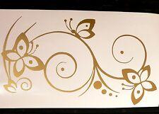 adesivo fiore farfalla decal sticker butterfly stilizzato flower decal ornament