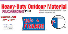 WE FINANCE Banner Sign buy here pay here bad credit financing for all approved