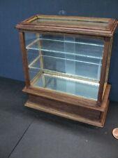 DOLLHOUSE/ROOM BOX GLASS SHOW CASE DISPLAY/ WALNUT