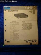 Sony Service Manual XM 640 Power Amplifier (#2936)