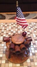 VINTAGE DUN RITE DURAGLAS PIPE HOLDER AND LOT OF 7 PIPES STARFIRE KAYWOODIE ETC