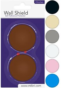 Door Knob Wall Protector - Round Door Bumper Wall Shield Self Adhesive 2 inches