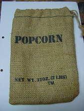 "Popcorn Burlap Sack Bag 32oz 9"" x 6"""