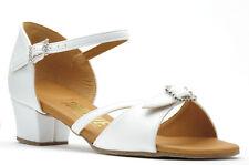 Girls Flesh Or White Cuban Ballroom Social Dance Shoes By Topline Katz NICKY