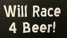 Humorous stickers (Beer Drinking-Racing)