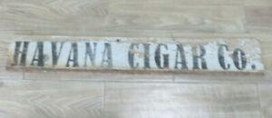 antique HAVANA CIGAR CO. WOODEN ADVERTISING 1900'S TOBACCO SCARCE RARE 1 SIGN