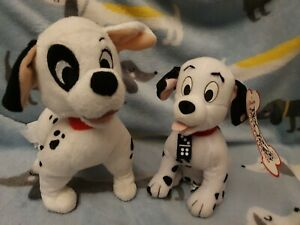 Rare domino DISNEY102 DALMATIONS SOFT TOY PLUSH NEW with TAGS  + another one!