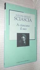 A CIASCUNO IL SUO Leonardo Sciascia La Biblioteca di Repubblica Novecento di e