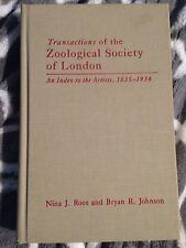 Zoological Society of London Index of Artists 1835-1936 Bibliography Reptiles