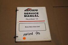 Mercury Race 1992 90-17431-1 Service Repair Manual 11 Bravo Stern Drive OEM
