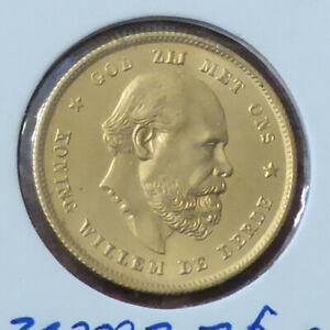Gold  Münze 10 Gulden 1879   Niederlande Willem III. 1849 - 1890  Zustand stgl.