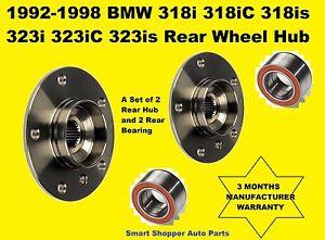 BMW 325I (03-05) 325IC 325IS (92-95) 325ES (1987)  Rear Wheel Bearing & Hub_Pair