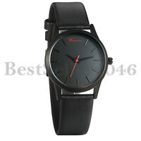 Women Genuine Leather Band Buisness Quartz Wrist Watch Round Dial Analog Watches