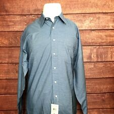 NEW Tommy Hilfiger Mens Shirts L/S Blue White Striped Size 15.5 34/35