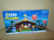 Little People Nativity Set Deluxe Christmas Story Fisher Price Music lights