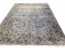 "10'4"" x 7'   Vintage OUSHAK gray grey color reform pastel  Overdyed rug carpet"