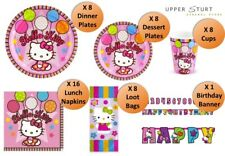 Hello Kitty Plates Cups Napkins Loot Bags Banner 49 Pce Birthday Party Supplies