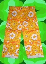G688✪ Retro Blumen Muster Hose 60er 70er Jahre Festival Hippie Schlager Gr 40
