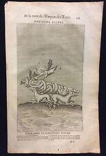 Alchimie Mézeay  d'après Vignère Tableaux Prophétiques Empire Turcs 1662 Turc 11