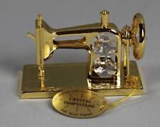Crystal Temptations Nähmaschine ca. 7x5 cm  Goldfarben mit div. Glassteinen /200