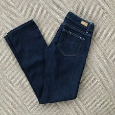 Paige Womens Jeans Size 26 Dark Wash Blue Heights Low Rise Premium