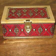 Vintage Blue Bird Confectionery Harry Vincent England Tin Trinket Box Red & Gold