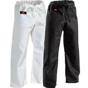 KANKU New Karate Pants 12oz Heavy Weight Black & White Martial ARTS 100% cotton