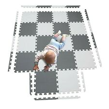 20Pc Large Grey White Foam mat Matting Garden Fitness Nursery Kid Mats Playmat