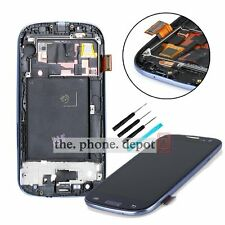 For Samsung Galaxy S3 i9300 Blue LCD Touch Screen Digitizer Display Frame Tools