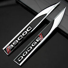 2pcs Auto Car Metal Knife Badge Emblem Decal Sticker For Black Racing sports hot