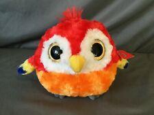 "Aurora Puff Up's Scarlet Macaw Parrot Plush Stuffed Animal Toy Big Eyes 6"" R11"