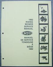 1982 Riding Mower Service Manual Lawnflite (MTD) Classic Turf-Trac Mastercraft