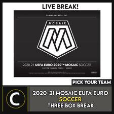 2020-21 PANINI MOSAIC euro 2020 fútbol 3 Caja romper #S191 - Elige Tu Equipo