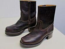 NWOB Frye Boots Short Campus side Zipper size 7.5M 77235 Blazer Brown Excellent