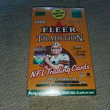 2000 FLEER TRADITION FOOTBALL CARD BOX POSS BRADY ROOKIE AUTO+BRADY GEM MINT 10