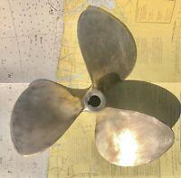 Columbian Hydraflite Brass 3 Blade RH Propeller 13x3x1 RH Cupped
