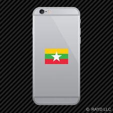 Burmese Flag Cell Phone Sticker Mobile Burma MMR MM