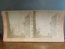 photo stereo albumen print albumine broadway new york usa sky scrapers 1900