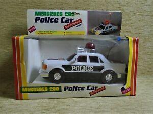 Mercedes 280 Police car # 135 NIB Afoi Antonopouloi B/O Made in Greece Greek VTG