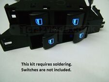 BMW E46 Ci Coupe / Saloon / Touring LED Electric window switch conversion kit