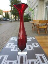 ASEDA Schweden Designer Glasvase Vase rot 60er TRUE VINTAGE 60s Buntglas