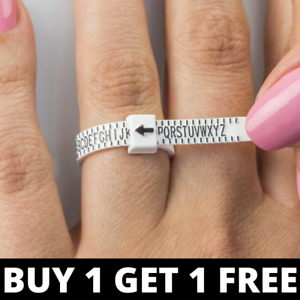 UK Ring Sizer finger measure gauge British UK sizes A - Z+2 - Buy 1 Get 1 Free