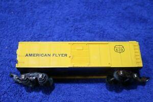 AMERICAN FLYER  639 AMERICAN FLYER  ( AF )   YELLOW PLASTIC  REEFER