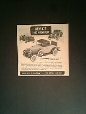 1963 Hubley Metal Model Kit 1932 Chevrolet Classic Roadster Toy Promo Print Ad