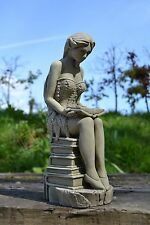 Fairy Stone Garden Ornament (Amelia the Book Fairy)