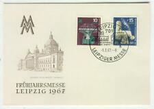 Cover E36 Germany 1967 Card Leipzig trade fair